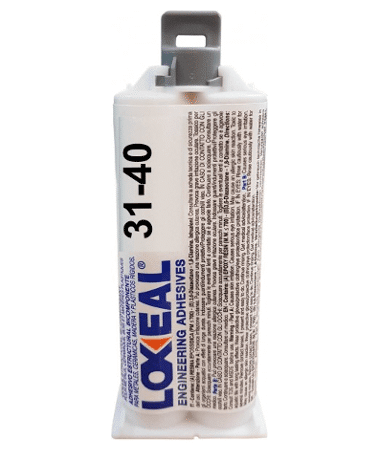 Loxeal 31-40, transparent, two part epoxy adhesive, self levelling, bonds verity of materials and can be sued for potting applications.