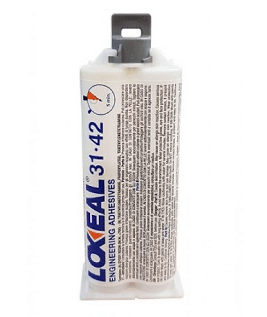 Loxeal 31-42, is a transparent, 5 min curing epoxy adhesive, that bonds well on to, metals, ceramics, ferrites, and some plastics