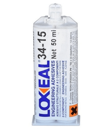Loxeal 34-15, highly flexible epoxy adhesive, shock and impact resistant, bonds metal,s ferrite, ceramics, composite, concrete, some plastics
