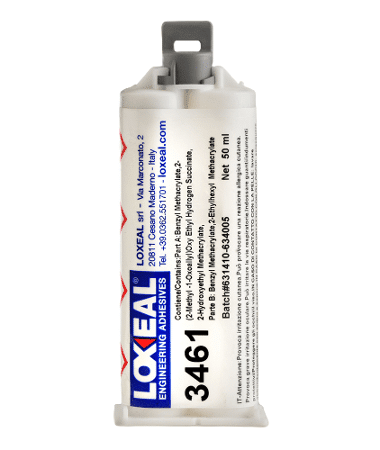Loxeal 3461, an acrylic adhesive, bonds polyolefins like, PP, PE, LDPE, HDPE, PTFE, PBT, EPDM, contains micro beads, bond low surface energy material