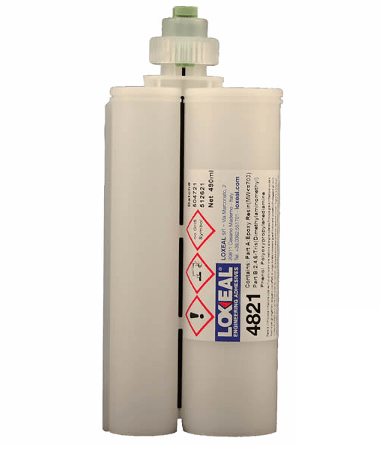 Two-part adhesive based on modified epoxy resin for flexible bonding and sealing applications, fully adheres to plastics like PA, ABS, PC, PET, PMMA, PI, metals, ceramics and composites