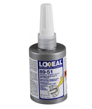 Loxeal 89-51, high viscosity gap filling silver paste, splines, threaded partsused to repair worn out shafts, bearing,