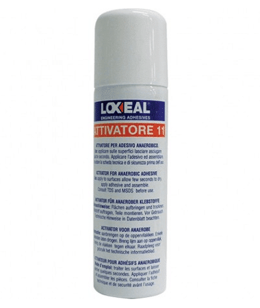 Loxeal11 is used to clean, degreases parts and speeds up the anaerobic adhesives and sealants fixture time