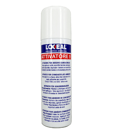 Loxeal Primer-9 is cleaner and degreaser in Aerosol form that also speed up the curing of Cynoacrylate adhesives