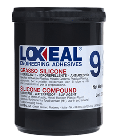 Loxeal silicone grease, lubrication of metal, plastic and rubber parts, can be used in contact with portable water, has good electrical insulation properties