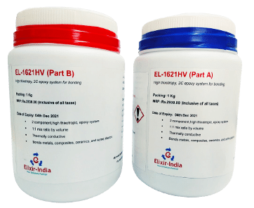 EL1621HV, toughened epoxy adhesive, with superior peel strength, capable of passing NASA standard for low outgassing, extensive service range of -70°C to +204°C.