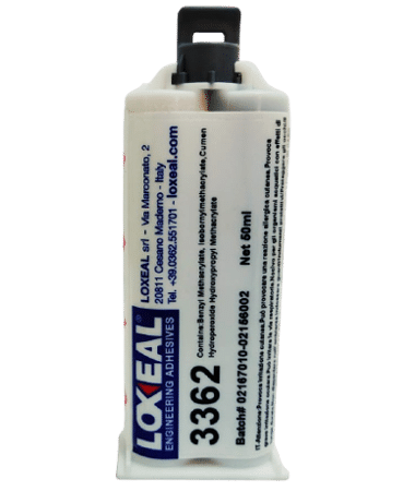 Loxeal 3362 is acrylic based polyolefin bonder suitable for bonding low surface energy materials like PE, PP HDPE, LDPE, contains microbeads for gap control