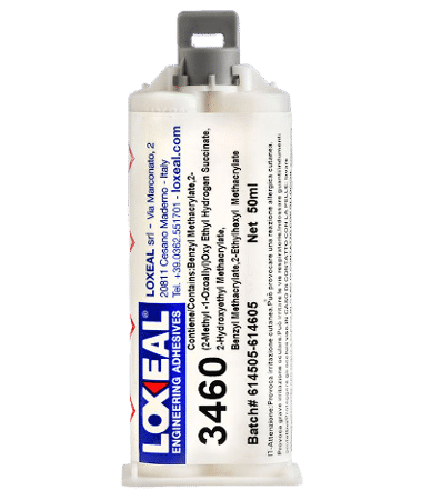 Loxeal 3460 is a fast-curing acrylic adhesive, bonds polyolefins like, PP, PE, LDPE, HDPE, PTFE, PBT, EPDM, contains micro beads, bond low surface energy material