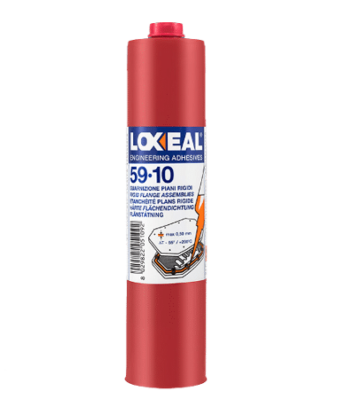 Loxeal 59-10, anaerobic gasketing sealant, good heat resistance, replaces pre-cut gasket, o ring, flange sealing of gear box, pumps, motors, motor flanges.