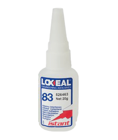 Loxeal IS-83 is flexible, low viscosity, low strength instant adhesive, good bonding and sealing properties, resistance to shock and vibrations, elongation of 300-500%