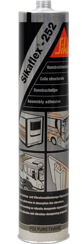 Sikaflex®252, a PU assembly sealant, for structural joints subjected to dynamic stresses in bus body, automotive and other applications