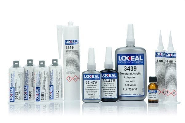 Loxeal acrylic adhesives, structural bonding, high peel strength, bonds, metal, glass, ceramics, plastics, excellent adhesive for magnet bonding applications