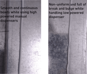 Compare low and high power dispenser