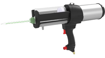 Mixpac DP2X Pneumatic Dispenser for 200 and 400mL C, F system cartridges of epoxy, polyurathane and MMA adhesives