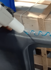 Application of Loxeal metha acrylate structural adhesive for FRP components, using mixpac dispenser