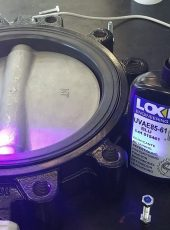 Curing of loxeal UV curing adhesive 85-61