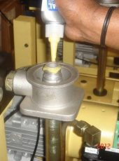Loxeal thread sealing using loxeal 58-11 in a machine carrying coolant